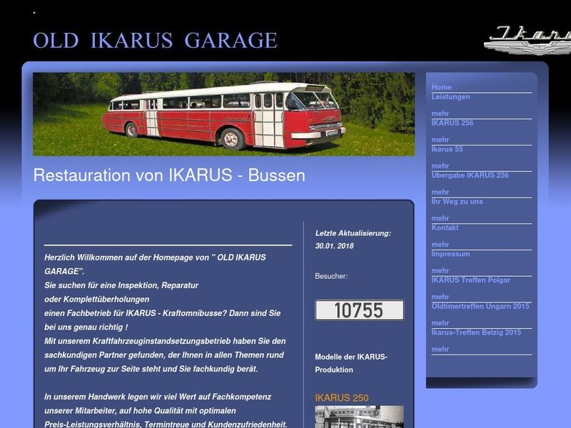 Screenshot von http://old-ikarus-garage.de