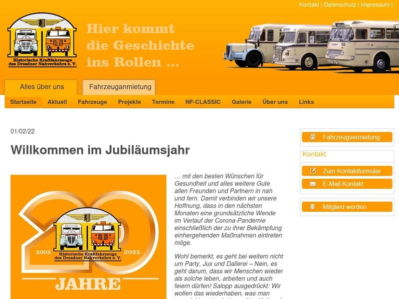 Screenshot von http://www.oldies-dvb.de